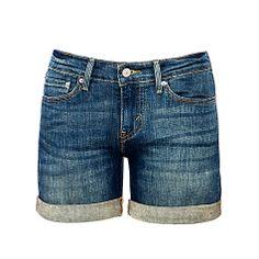 Buy Levi's Rolled Hem Denim Shorts, True Blue Online at johnlewis.com