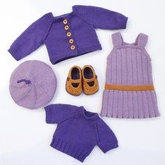 Ravelry: cataddict's September back to school FREEBIE dress and twin set cardigan patterns