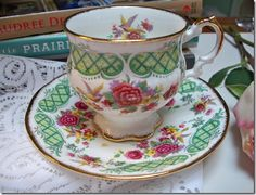 My heart melts when I come across teacups!