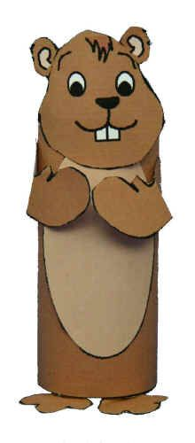 Paper Tube Groundhog  