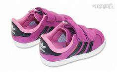 Photo Adidas Gazelle 2 CF1 - baskets enfant du 19 au 27 - Violet et noir