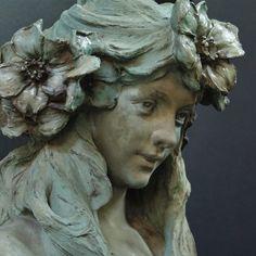 About Art Nouveau Plaster Sculpture, Sculpture Head, Art Nouveau, Art Deco, Weaving Yarn, Cemetery Art, Alphonse Mucha, Nature Prints, Belle Epoque