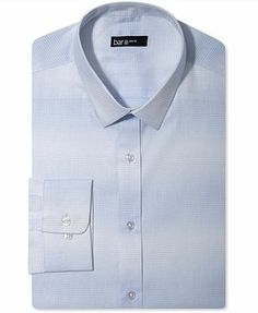 Bar III Dress Shirt, Slim-Fit Sky Blue Optic Check Long Sleeve Shirt