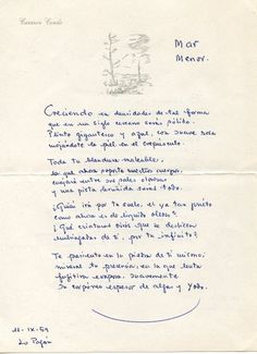 """Devenir del Mar Menor"" (En ""Los poemas de Mar Menor"", 1962)"