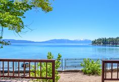 Get to Lake Tahoe for a vacation at Meeks Bay Resort & Marina. Steps away from the sandy beaches, you'll be able to canoe, paddle-boat, kayak and fish! - ResortsandLodges.com #travel #California