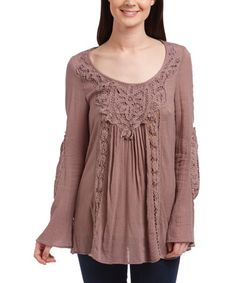 Look what I found on #zulily! Sepia Embroidered Scoop Neck Tunic #zulilyfinds