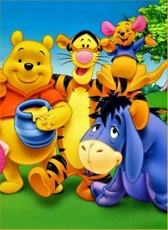 Winnie the Pooh, Tigger, Eeyore and Lil Roo Winnie The Pooh Cartoon, Winnie The Pooh Pictures, Winnie The Pooh Plush, Winnie The Pooh Quotes, Winnie The Pooh Friends, Eeyore, Tigger, Whinnie The Pooh Drawings, Pooh Bear