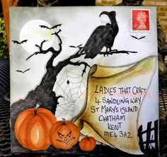 Halloween mail art envelope http://mailartchallenge.blogspot.co.uk/