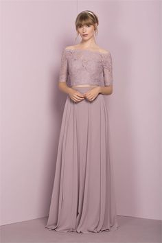Kelsey Rose Bridesmaid Dresses for 2017 – Page 6 – Hi Miss Puff Rose Bridesmaid Dresses, Beautiful Bridesmaid Dresses, Bridesmaid Ideas, Lace Outfit, Lace Dress, Lace Chiffon, Dress Brukat, Chiffon Skirt, Dress Prom