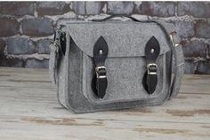 Items similar to laptop bag Grey Felt briefcase MacBook satchel case custom size black leather on Etsy Iron Fist, Macbook Pro 17 Inch, Macbook 15, Betsey Johnson, Unique Bags, Casual Bags, Briefcase, Laptop Bag, Bag Making