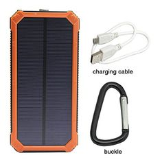 Temperate Universal 8000mah Solar Power Bank Outdoors Solar Power Bank External Battery Portable Charger For All Cellphones With Led Light New Varieties Are Introduced One After Another Cellphones & Telecommunications Battery Charger Cases