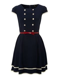 Cutie Double breasted dress Navy - House of Fraser