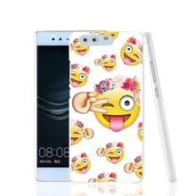 18652 Funny Emoji Face durable cell phone Cover Case for huawei Ascend P7 P8 P9 lite mini Maimang G8(China (Mainland))