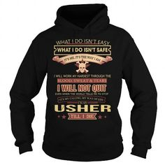 Usher We Do Precision Guess Work Questionable Knowledge T Shirts, Hoodies. Get it now ==► https://www.sunfrog.com/Jobs/Usher-Job-Title-Black-Hoodie.html?41382