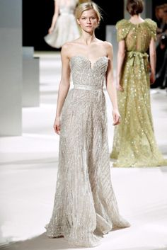 Gorgeous shimmery dress and the one walking away