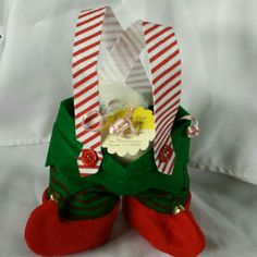 Elf Britches full of  Bath Bomb Fizzies for Holiday Gift Giving.  Available in several scents and aromatherapy scents.