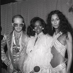 Elton John,  Diana Ross,  Cher