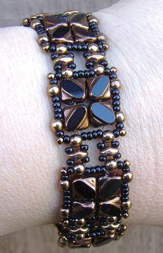 Nexus Bracelet and Earrings beaded pattern tutorial by Deb Roberti