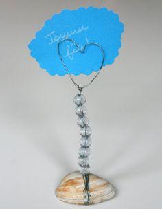 Un porte-photo à perles et coquillage