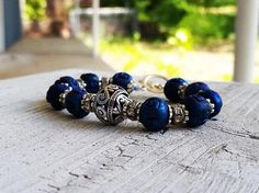 Water Tribe Jewelry Katara Wooden Bead Bracelet Blue Bracelet Blue Jewelry Beaded Silver Bracelet Nerd Gift Water Tribe, Nerd Gifts, Wood Bracelet, Beaded Jewelry, Unique Jewelry, Crystal Bracelets, Wooden Beads, Fancy, Crystals