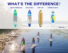 What's the difference between paddle board types? We've broken down the differen. - Surfing News - Best Paddle Boards, Paddle Board Yoga, Sup Boards, Standup Paddle Board, E Skate, Offshore Wind, Sup Surf, Learn To Surf, Construction Types