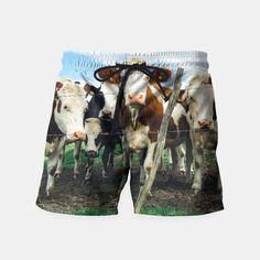 Group Of Cows Swim Shorts by Bananarific 29.95€
