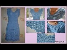 Мои работы. Летнее, легкое, простое, женственное платье крючком. Mariya VD. - YouTube