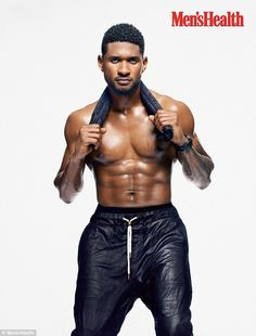 Usher shows results of fitness regime in sizzling shirtless photo shoot for Men's Health   Mail Online