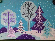 Зимний лес   Страна Мастеров 3d Art Projects, Winter Art Projects, Winter Crafts For Kids, Paper Crafts For Kids, Art For Kids, Christmas Doodles, Christmas Paper Crafts, Advent, Snow Theme