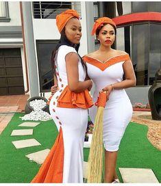 African traditional attire 2019 for black women - fashion ShweShwe 1 African Traditional Wedding Dress, Traditional African Clothing, Traditional Outfits, Modern Traditional, African Wedding Attire, African Attire, African Wear, Xhosa Attire, African Weddings