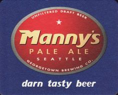 Georgetown Brewing: Manny's Pale Ale: Unfiltered goodness.
