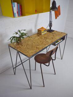 Kitchen Furniture, Diy Furniture, Furniture Design, Osb Wood, Particle Wood, Workspace Inspiration, Study Desk, Cafe Chairs, Diy Desk
