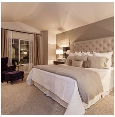 Relaxing Master Bedroom, Master Bedroom Design, Home Decor Bedroom, Modern Bedroom, Bedroom Designs, Trendy Bedroom, Diy Bedroom, Master Bedrooms, Master Suite