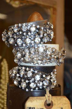 Rhinestone Leather Bracelets-rhinestone  bracelet