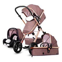 Bebek Arabası 3 in 1 Ile Araba Koltuğu Yüksek Landscope katlanır Bebek Arabası Için Gelen Çocuk Için 0-3 Yıl Çocuk Arabaları yenidoğanlar