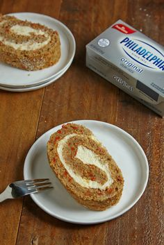 ' Getting bored of your ordinary carrot cake recipe? Try our carrot cake rollup stuffed with a creamy and delicious lemon cream cheese filling. Best Chocolate Desserts, Fun Desserts, Sweet Recipes, Cake Recipes, Dessert Recipes, Passover Recipes, Jewish Recipes, Cream Cheese Potatoes, Lemon Cream