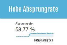 Google Analytics: Hohe Absprungrate? Möglichkeiten und Trackingtests