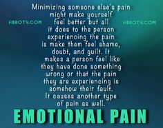 Does anyone you know minimize your pain? Doctors, Family, Coworkers, Friends? How does it make you feel? Chronic illness Support Chat TONIGHT! 5PM PST! Hope to see you there! fibro.tv/community