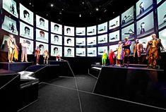 scenographic david bowie exhibition at MIS by atelier marko brajovic