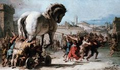 Giovanni Domenico Tipeolo - Procession of the Trojan Horse in Troy