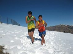 Famed marathoner Hari Bahadur Rokaya trains locals in Humla, remote district in Nepal and it's how they practice on the snow!