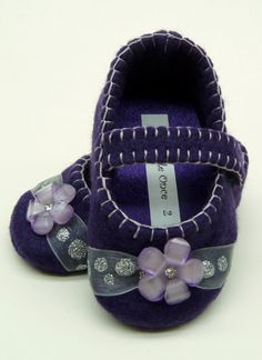 Baby Shoes  Purple and silver sparkle mary janes by OnlyLittleOnce, $20.00