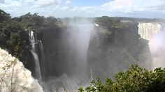 """A quick look at """"Mosi oa-Tunya"""" (""""the smoke that thunders"""") or as it is more well know, the Victoria Falls. Shot from the Zimbabwean side and from one of the. Victoria Falls, Zimbabwe, Lodges, Niagara Falls, Safari, Waterfall, Beautiful Places, Travel, Outdoor"""