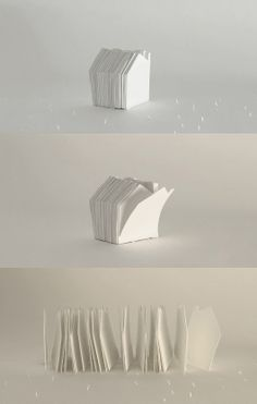 white house paper cut animation by Helene Ducrocq