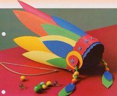 Детское творчество. Перья индейца