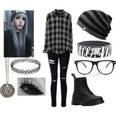 Cute emo outfits, punk outfits, hot topic outfits, school outfits, hot to. Cute Emo Outfits, Scene Outfits, Komplette Outfits, Gothic Outfits, Grunge Outfits, Casual Outfits, Fashion Outfits, Emo Fashion, School Outfits