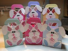 punch art easter bunny boxes