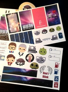 This sticker set is perfect for any Doctor who fans whod like to decorate planner with cuteness. They are printed on white matte sticker paper. Simply