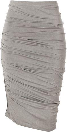 Donna Karan New York Hemp Crushed Skirt