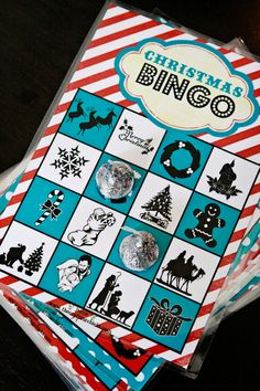 Bingo cards to play Christmas Bingo!  My first thought was for kids to find these on the Christmas tree, but the person that posted this idea actually read Christmas stories to her kids, and they listened for the words.  Great idea for a holiday classroom activity!